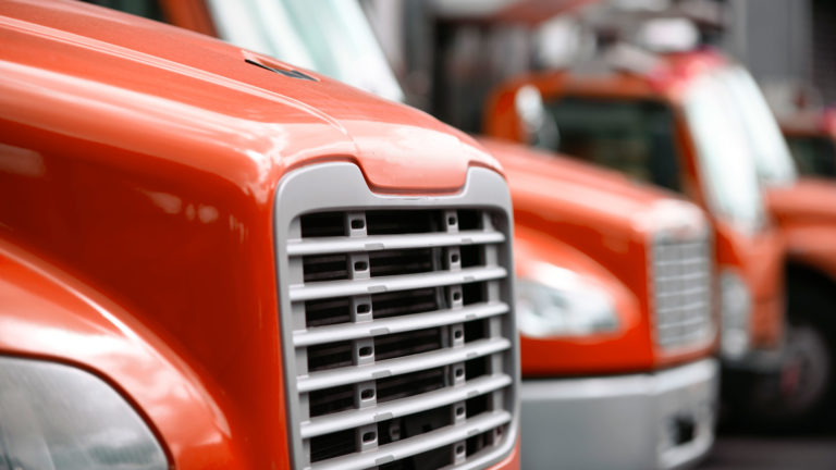 trucking fleet red